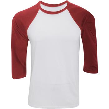 Abbigliamento Uomo T-shirts a maniche lunghe Bella + Canvas CA3200 Bianco/Rosso