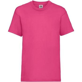 Abbigliamento Unisex bambino T-shirt maniche corte Fruit Of The Loom 61033 Fucsia