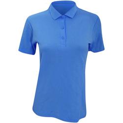 Abbigliamento Donna Polo maniche corte Anvil 6280L Blu piscina