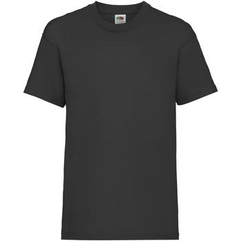 Abbigliamento Unisex bambino T-shirt maniche corte Fruit Of The Loom 61033 Nero