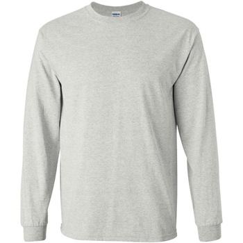 Abbigliamento Uomo T-shirts a maniche lunghe Gildan 2400 Grigio cenere