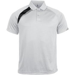 Abbigliamento Uomo Polo maniche corte Kariban Proact PA457 Bianco/Nero/Grigio Tempesta