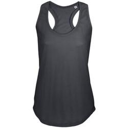 Abbigliamento Donna Top / T-shirt senza maniche Sols Moka Grigio scuro