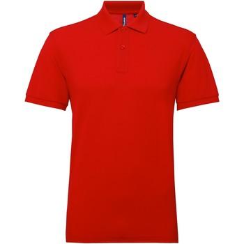 Abbigliamento Uomo Polo maniche corte Asquith & Fox AQ015 Rosso ciliegia