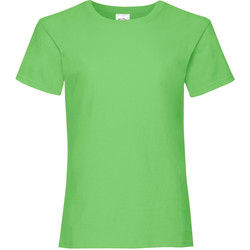 Abbigliamento Bambina T-shirt maniche corte Fruit Of The Loom Valueweight Verde lime