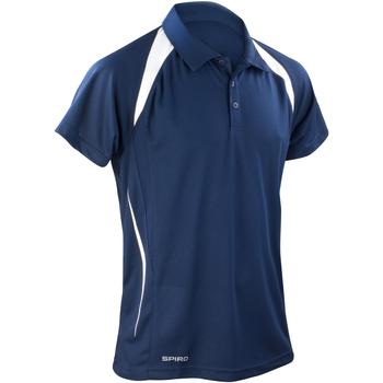 Abbigliamento Uomo Polo maniche corte Spiro S177M Blu navy/Bianco