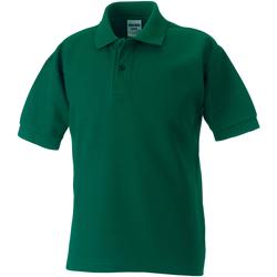 Abbigliamento Bambino Polo maniche corte Jerzees Schoolgear 539B Verde bottiglia