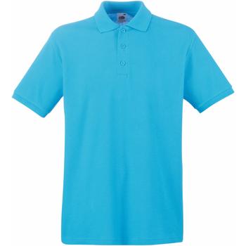 Abbigliamento Uomo Polo maniche corte Fruit Of The Loom 63218 Azzurro