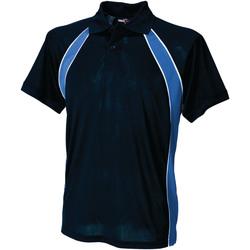 Abbigliamento Uomo Polo maniche corte Finden & Hales LV350 Blu navy/Blu reale/Bianco