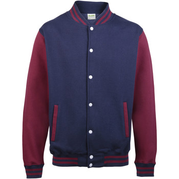 Abbigliamento Uomo Giubbotti Awdis JH043 Blu/Bordeaux