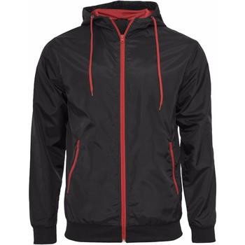 Abbigliamento Uomo Giubbotti Build Your Brand Wind Runner Nero/Rosso