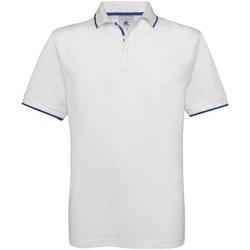 Abbigliamento Uomo Polo maniche corte B And C BA351 Bianco/Blu Reale