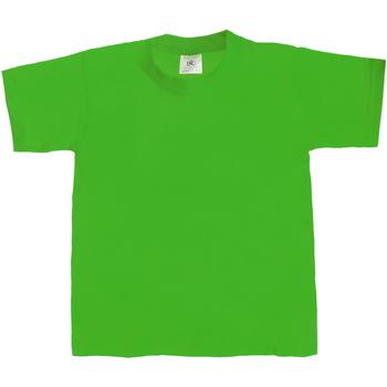 Abbigliamento Unisex bambino T-shirt maniche corte B And C Exact 190 Verde kelly