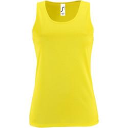 Abbigliamento Donna Top / T-shirt senza maniche Sols 2117 Giallo neon