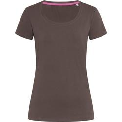 Abbigliamento Donna T-shirt maniche corte Stedman Stars  Cioccolato