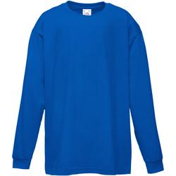 Abbigliamento Unisex bambino T-shirts a maniche lunghe Fruit Of The Loom 61007 Blu reale