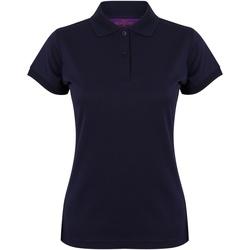 Abbigliamento Donna Polo maniche corte Henbury Coolplus Blu Oxford Navy