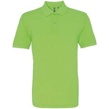 Abbigliamento Uomo Polo maniche corte Asquith & Fox AQ010 Verde Neon