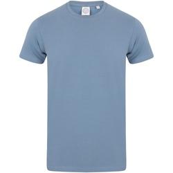 Abbigliamento Uomo T-shirt maniche corte Skinni Fit SF121 Azzurro opaco