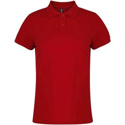 Abbigliamento Donna Polo maniche corte Asquith & Fox  Rosso ciliegia