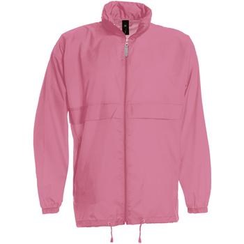 Abbigliamento Uomo giacca a vento B And C JU800 Rosa Pixel