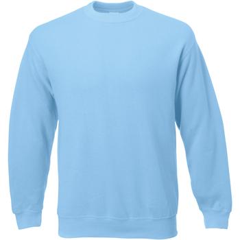Abbigliamento Uomo Felpe Universal Textiles 62202 Azzurro