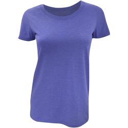 Abbigliamento Donna T-shirt maniche corte Bella + Canvas BE8413 Blu Triblend