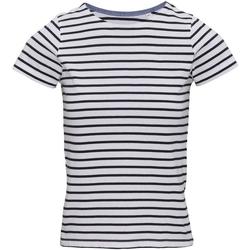 Abbigliamento Donna T-shirt maniche corte Asquith & Fox AQ073 Bianco/Blu navy