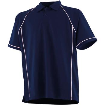Abbigliamento Unisex bambino Polo maniche corte Finden & Hales LV372 Blu navy/Bianco