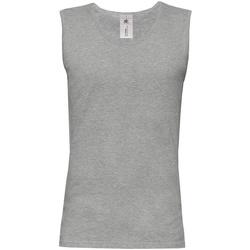 Abbigliamento Uomo Top / T-shirt senza maniche B And C BA110 Grigio Sport