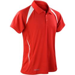 Abbigliamento Uomo Polo maniche corte Spiro S177M Rosso/Bianco