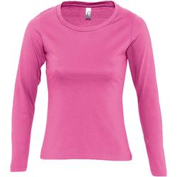 Abbigliamento Donna T-shirts a maniche lunghe Sols Majestic Rosa orchidea
