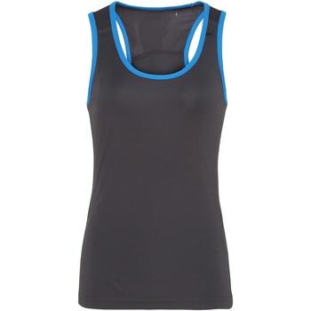 Abbigliamento Donna Top / T-shirt senza maniche Tridri TR023 Carbone/Zaffiro