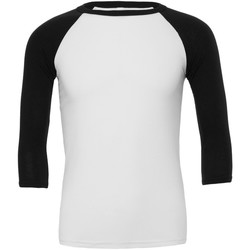 Abbigliamento Uomo T-shirts a maniche lunghe Bella + Canvas CA3200 Bianco/Nero