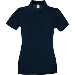 Abbigliamento Donna Polo maniche corte Universal Textiles 63030 Blu notte