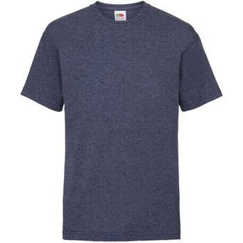 Abbigliamento Unisex bambino T-shirt maniche corte Fruit Of The Loom 61033 Blu navy screziato vintage