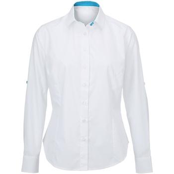 Abbigliamento Donna Camicie Alexandra AX060 Bianco/Pavone