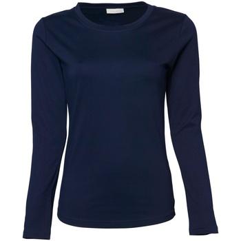 Abbigliamento Donna T-shirts a maniche lunghe Tee Jays TJ590 Blu navy