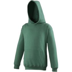 Abbigliamento Unisex bambino Felpe Awdis JH01J Verde bottiglia