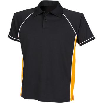 Abbigliamento Unisex bambino Polo maniche corte Finden & Hales LV372 Nero/Ambra/Bianco