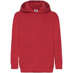 Abbigliamento Unisex bambino Felpe Fruit Of The Loom 62043 Rosso