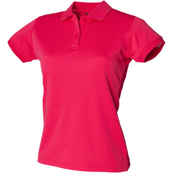 Abbigliamento Donna Polo maniche corte Henbury Coolplus Rosa Brillante