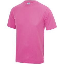 Abbigliamento Unisex bambino T-shirt maniche corte Awdis JC01J Rosa elettrico