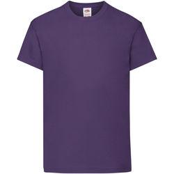 Abbigliamento Unisex bambino T-shirt maniche corte Fruit Of The Loom 61019 Viola
