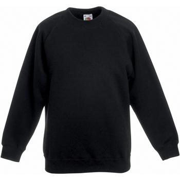Abbigliamento Unisex bambino Felpe Fruit Of The Loom 62039 Nero