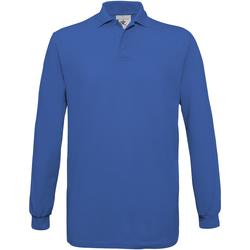 Abbigliamento Uomo Polo maniche lunghe B And C PU414 Blu reale