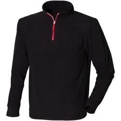 Abbigliamento Uomo Felpe in pile Finden & Hales LV570 Nero/Rosso