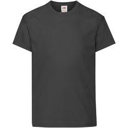 Abbigliamento Unisex bambino T-shirt maniche corte Fruit Of The Loom 61019 Nero