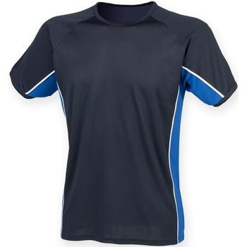 Abbigliamento Uomo T-shirt maniche corte Finden & Hales LV240 Blu/Blu Reale/Bianco