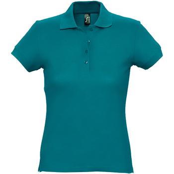 Abbigliamento Donna Polo maniche corte Sols 11338 Azzurro anatra